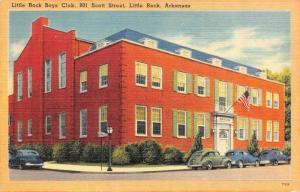 AR, Arkansas  LITTLE ROCK BOYS CLUB~Scott Street  c1940's Tichnor Linen Postcard
