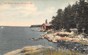 Merepoint Maine Bathers Beach Waterfront Antique Postcard K81515