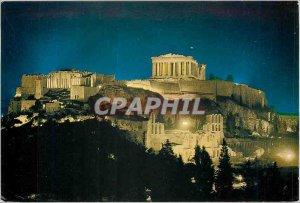 Postcard Modern ATHENS-The Akropole ILLUMINATED
