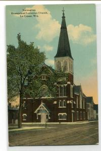 Norwegian Evangelical Lutheran Church La Crosse Wisconsin 1910c postcard