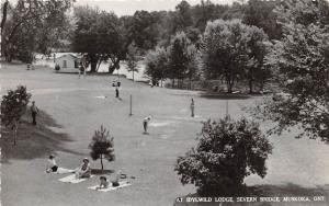 <A13> CANADA Ontario Postcard Photo RPPC 1955 MUSKOKA Idylwild Lodge Severn 18