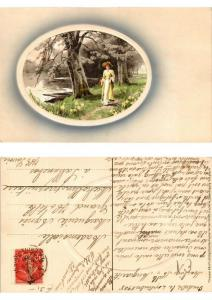 CPA Spaziergang Meissner & Buch Litho Serie 1555 (730519)