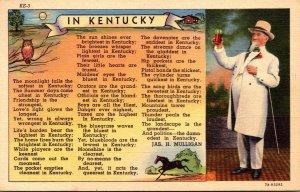 Kentucky Poem By Jas H Mulligan 1955 Curteich
