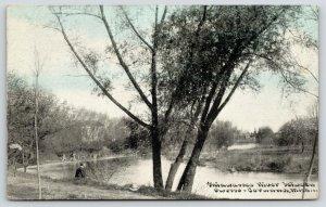Owosso-Corunna Michigan~Kid on Bank of the Hiawassee River~c1910 C U Williams