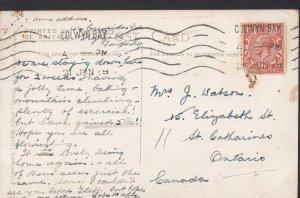 Genealogy Postcard - Family History - Watson - St Catharines - Ontario BH4775