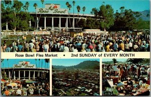 Pasadena, California Advertising Postcard ROSE BOWL FLEA MARKET c1970s Unused