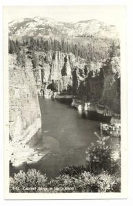 RPPC Cabinet Gorge in North Idaho, ID, Kodak Paper Real Photo