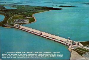New York Massena St Lawrence Power Dam Niagara Power Project