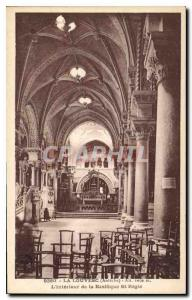 Postcard Old Louvesc Ardeche The Interior of the Basilica of St. Regis