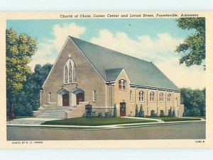 W-border CHURCH SCENE Fayetteville Arkansas AR AD1184
