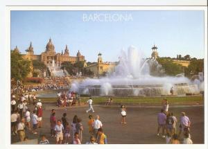 Postal 046765 : Barcelona. Palau Nacional i fonts de Montjuic