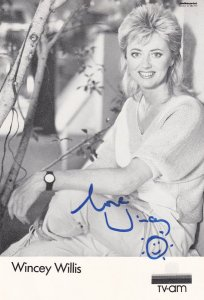Wincey Willis TV Am Breakfast TV Vintage Hand Signed Photo