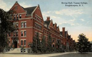 Poughkeepsie New York~Vassar College~Strong Hall Dormitory~Fire Escapes~c1910