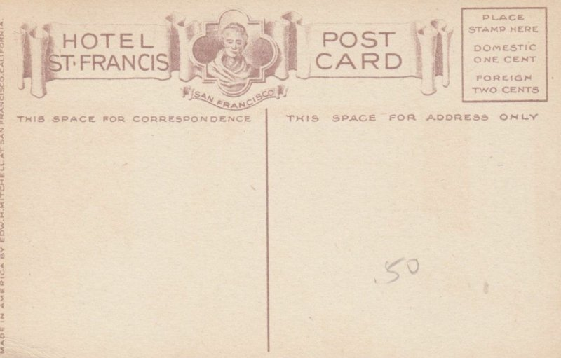 SAN FRANCISCO, California, 1900-10s; Electric Grill, Hotel St. Francis