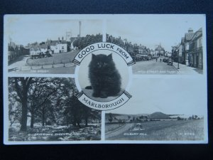 Wiltshire MARLBOROUGH 5 Image Multiview inc TOWN & THE GREEN c1940s RP Postcard