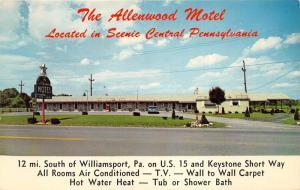 Williamsport Pennsylvania~Allenwood Motel~50s Car Parked~Vending Machine~US 15