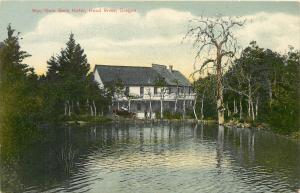 Wau Gwin Gwin Hotel Hood River Oregon OR Postcard