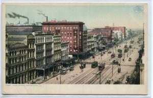 Canal Street New Orleans Louisiana 1910c Phostint postcard