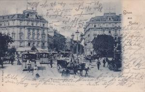Gruss Aus BERLIN, Germany, PU-1900; Horse Carts, Potsdamerplatz