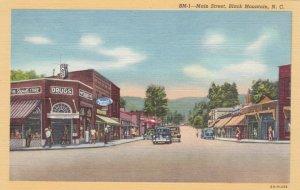 North Carolina Black Mountain Main Street Rexall Drug Store Curteich sk2468