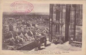 France Strasbourg Plateforme de la Cathedrale Vue sur Ville Cote Ouest