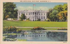 White House South Front Washington D C
