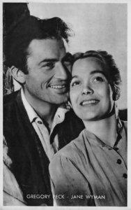 Gregory Peck & Jane Wyman Rare Kwatta Belgium Postcard Size Film Photo