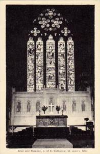 Alter & Reredos, C. &  E. Cathedral, St. John's, Newfoundland, Canada, 1910-1...