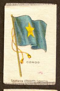 TURN OF CENTURY CIGARETTE SILK - CONGO FLAG