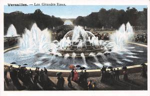 Versailles, France, Le Grandes Eaux, early postcard, unused