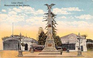 Monumento de San Martin Lima Unused