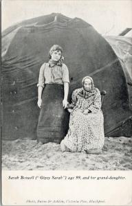 Sarah Boswell (Gipsy Sarah) and Grand-daughter Burns & Ashton Postcard E59