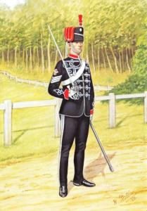 Military Postcard Sergeant Royal Wiltshire Yeomanry Prince of Wales Own 1897 3-2