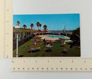 Ann Esther Inn South Clearwater Beach FL Postcard Poolside Coronada Drive 1960s