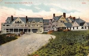 Sunapee New Hampshire~Drive Up to Granliden Hotel~Demolished 1967~1912 Postcard