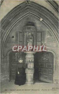 Old Postcard St. John Finger (Finistere) Porch of the Church Folklore