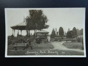 Wales Glamorgan PENARTH Windsor Gardens & Bandstand (2) c1920s RP Postcard