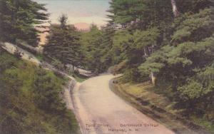 New Hampshire Hanover Tuck Drive Dartmouth College 1936 Handcolored Albertype