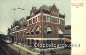 Railway Depot, Montgomery, AL, Alabama, USA Depot Postcard, Railroad Post Car...