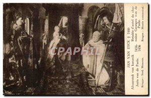 Old Postcard Jan van Eyck Altarpiece & # 39autel canon Van Paele