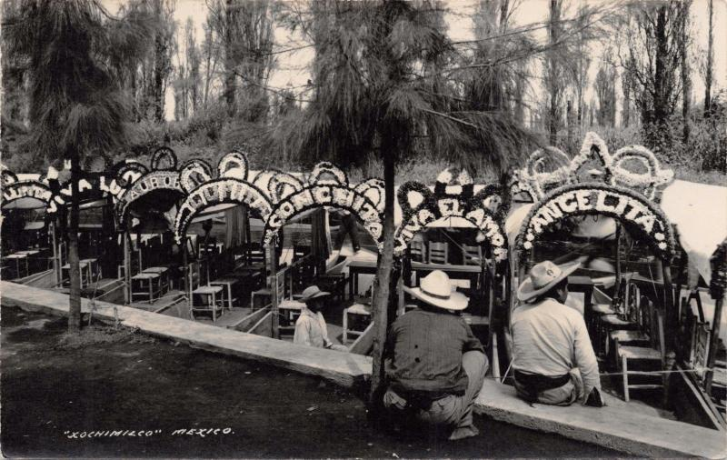 MEXICO D F~XOCHIMILCO~GEVAERT REAL PHOTO POSTCARD