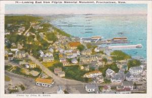 Massachusetts Provincetown Looking East From Pilgrim Memorial Monument 1946