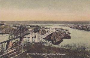 Reversible Falls & Bridges, St. John, New Brunswick, Canada, 1900-1910s