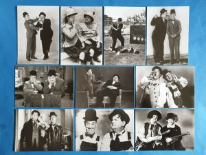 Set of 10 Black & White Laurel and Hardy Postcards, Stan & Ollie Film Stars
