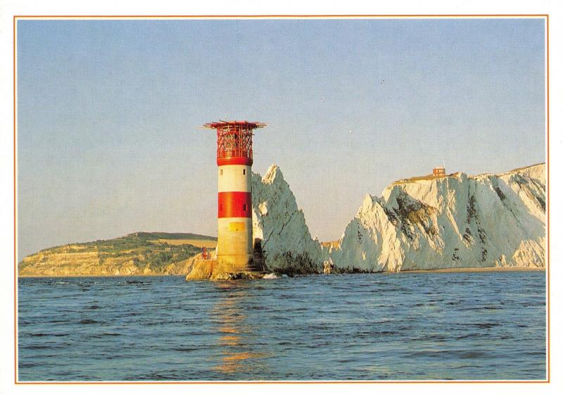 Isle of Wight Postcard, The Needles Lighthouse by J. Arthur Dixon Q7