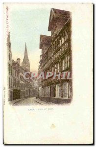 Old Postcard Caen Old Street