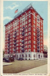 BROWN HOTEL, Fourth and Chesnut Streets, DES MOINES, IA