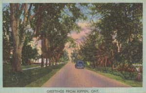Greetings From Kippen Ontario Canada Old Postcard