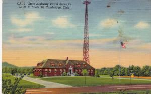 State Highway Patrol Barracks On U. S. Route 40, CAMBRIDGE, Ohio, 1930-1940s