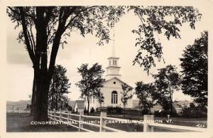 Craftsbury Common Vermont~Congregational Church in the Country~RPPC